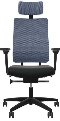 Viasit Newback bureaustoel blauwgrijs 2