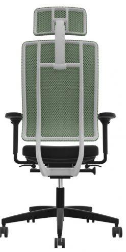 Viasit newback telegrijs bureaustoel