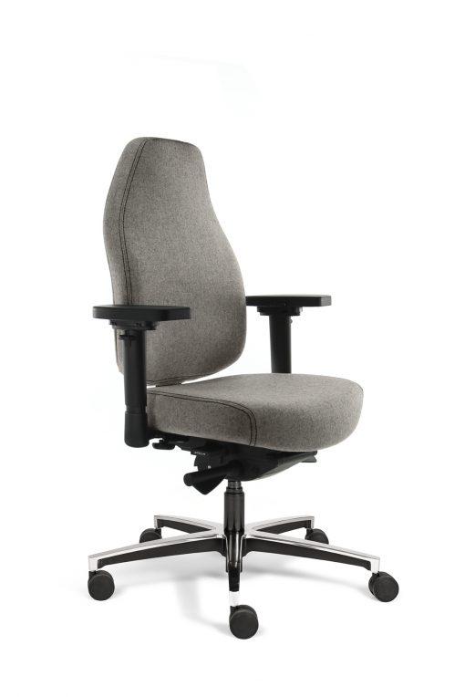 Bureaustoel hoge rug lichtgrijs