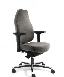 bureaustoel grijs hoge rug
