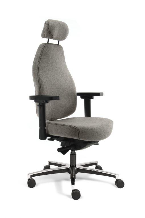 bureaustoel grijs met neksteun