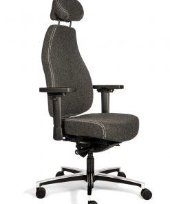 luxe bureaustoel grijs met neksteun