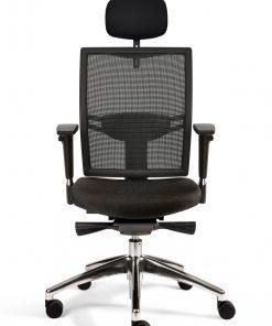 bureaustoel zwart met hoofdsteun