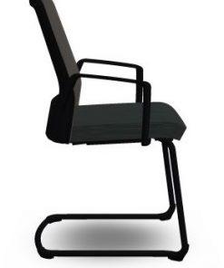 bezoekersstoel interstuhl buddy 570b zwart